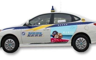 Báo giá quảng cáo trên taxi Thành Công 2017 – Taxi advertising