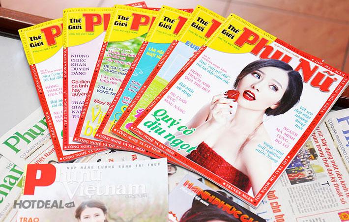 bảng giá quảng cáo tạp chí thế giới phụ nữ