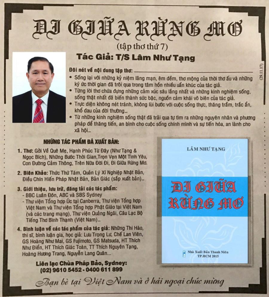 Chuc Mung TS Lam Nhu Tang 2016