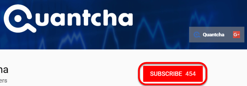 Subscribe to the Quantcha YouTube Channel