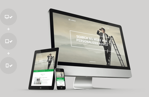 agency, financial, business, one page, corporate HTML Template