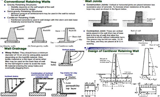Retaining Wall Design Analysis