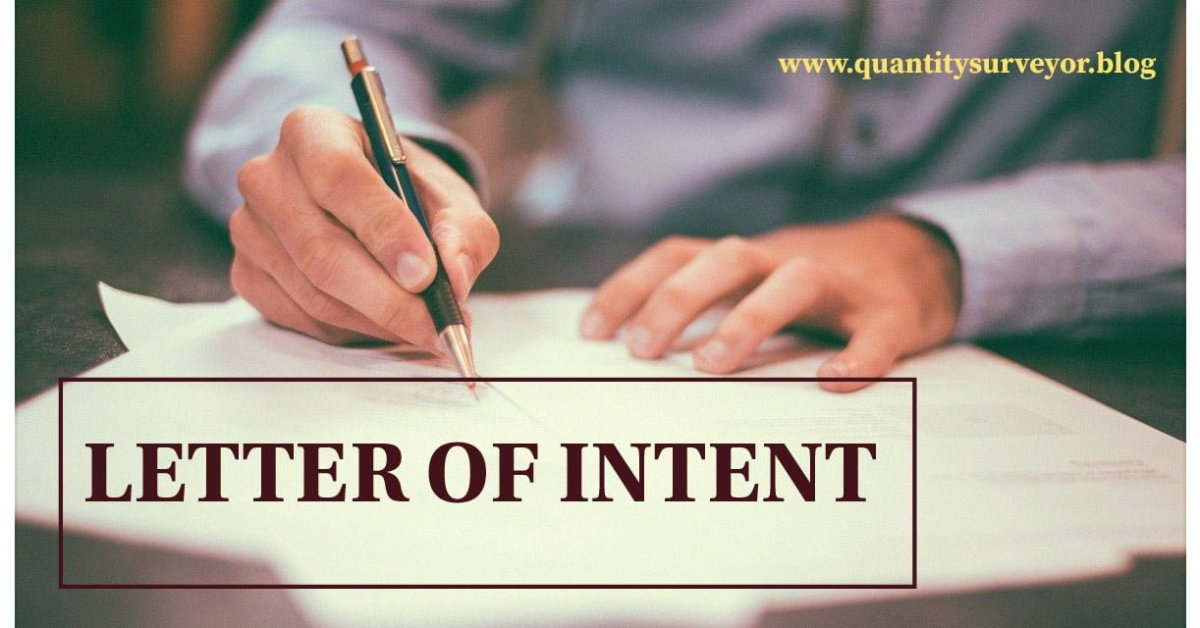 Letter of intent in construction & how to write?