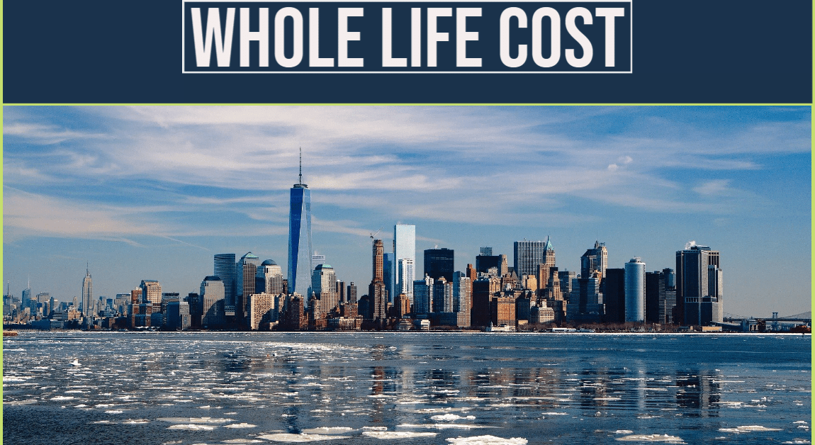 Key stages of whole life cost (of a building)