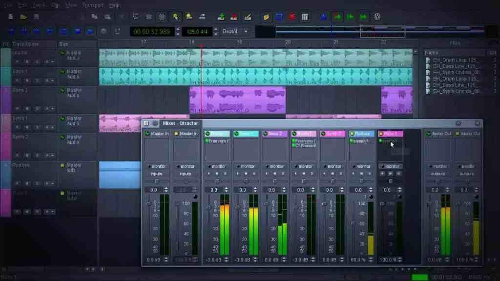 mixando em DAW multitracks para estudar mixagem