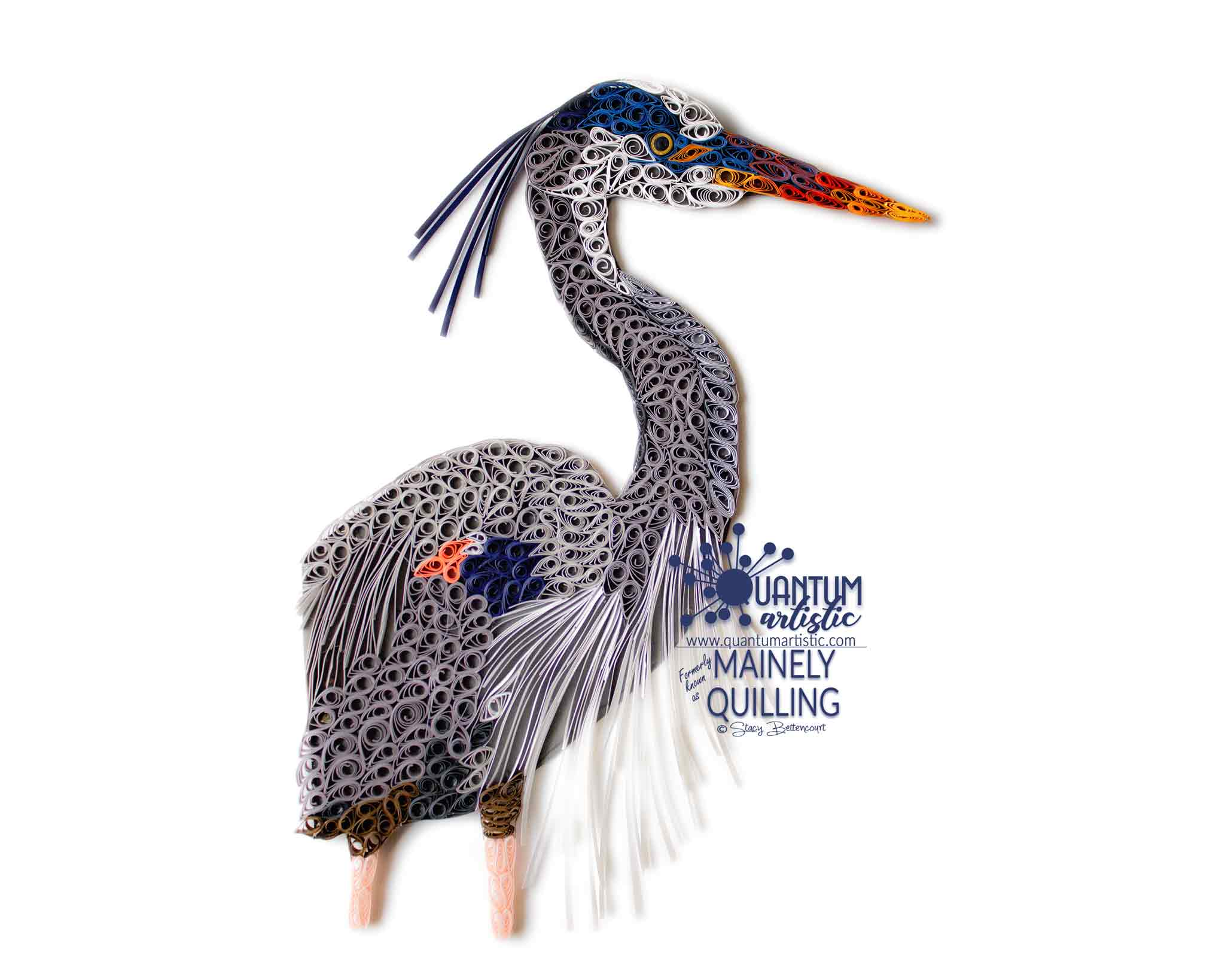 Quilled Great Blue Heron Archives