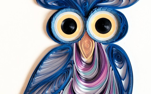 Quilled Cartoonish Owls