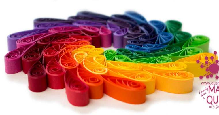 Paper Quilled Rainbow Spiral | Medium