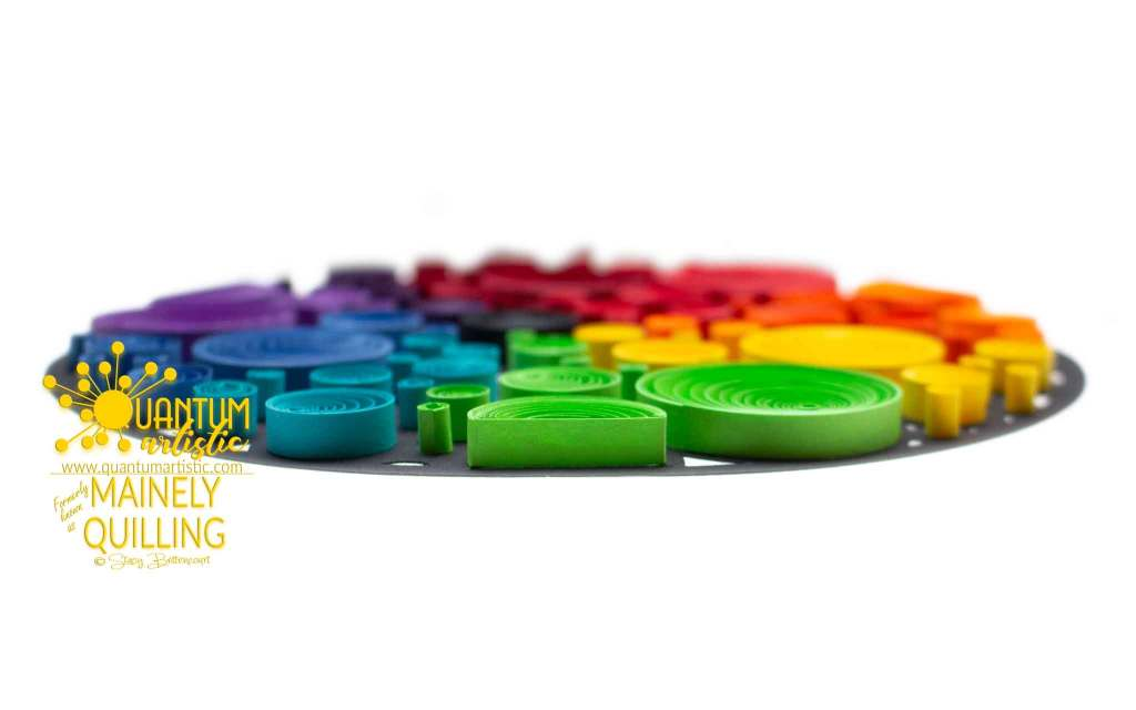 Quilled Rainbow Bubble Abstract