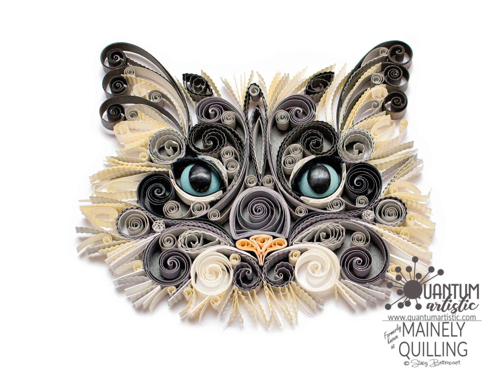 Quilled Persian Cat Portrait
