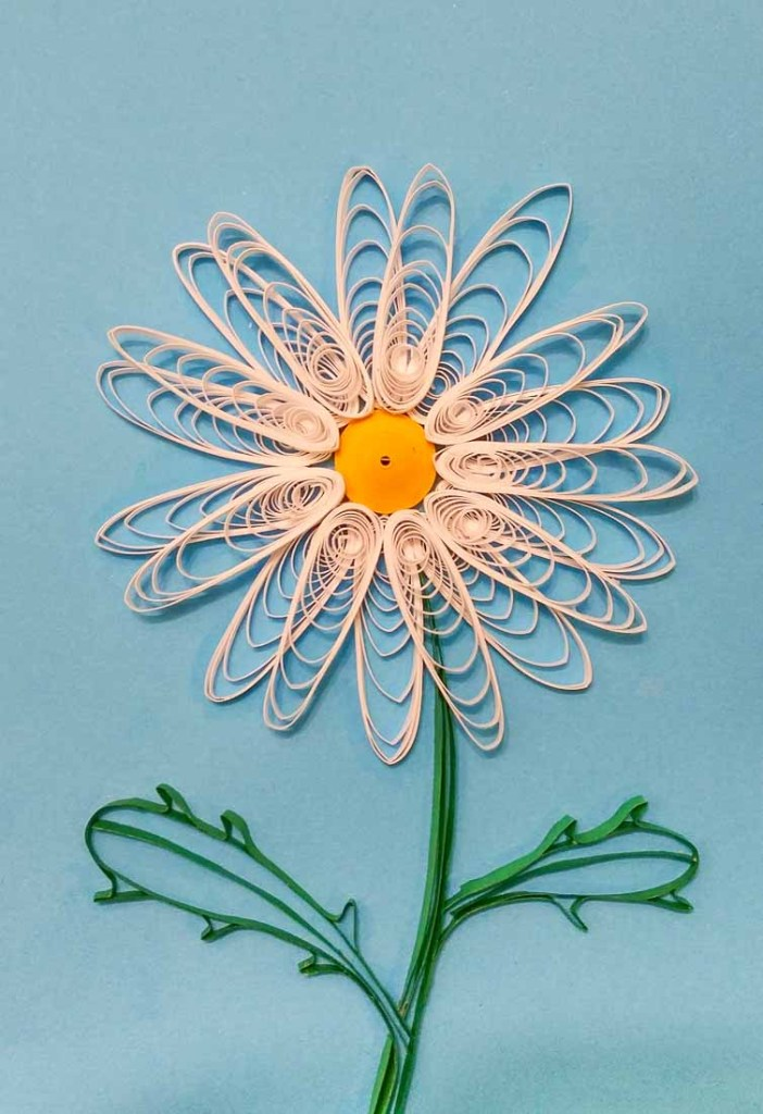 Paper Quilled Basic Daisy