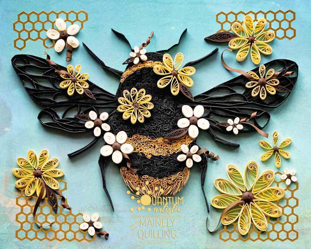 Paper Quilled Spring Bee