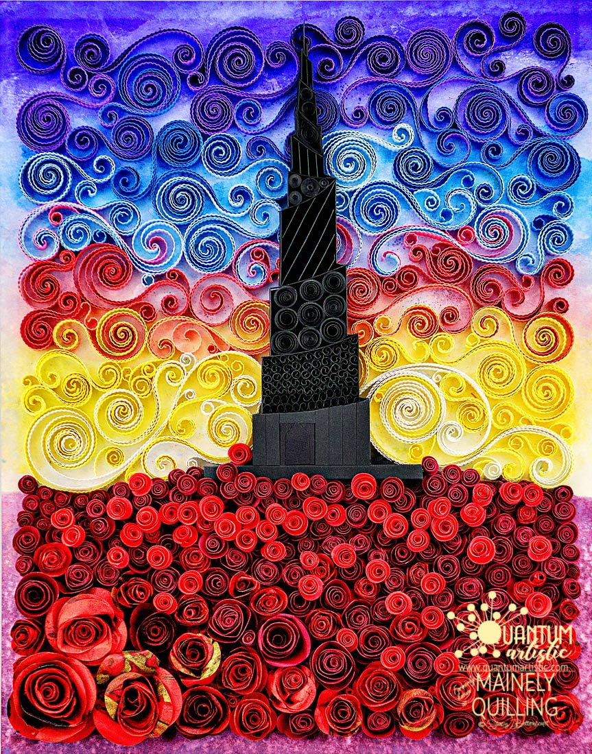 Quilled Dark Tower | Gunslinger Series Tribute