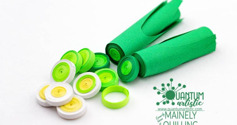 Paper Quilled Realistic Leeks