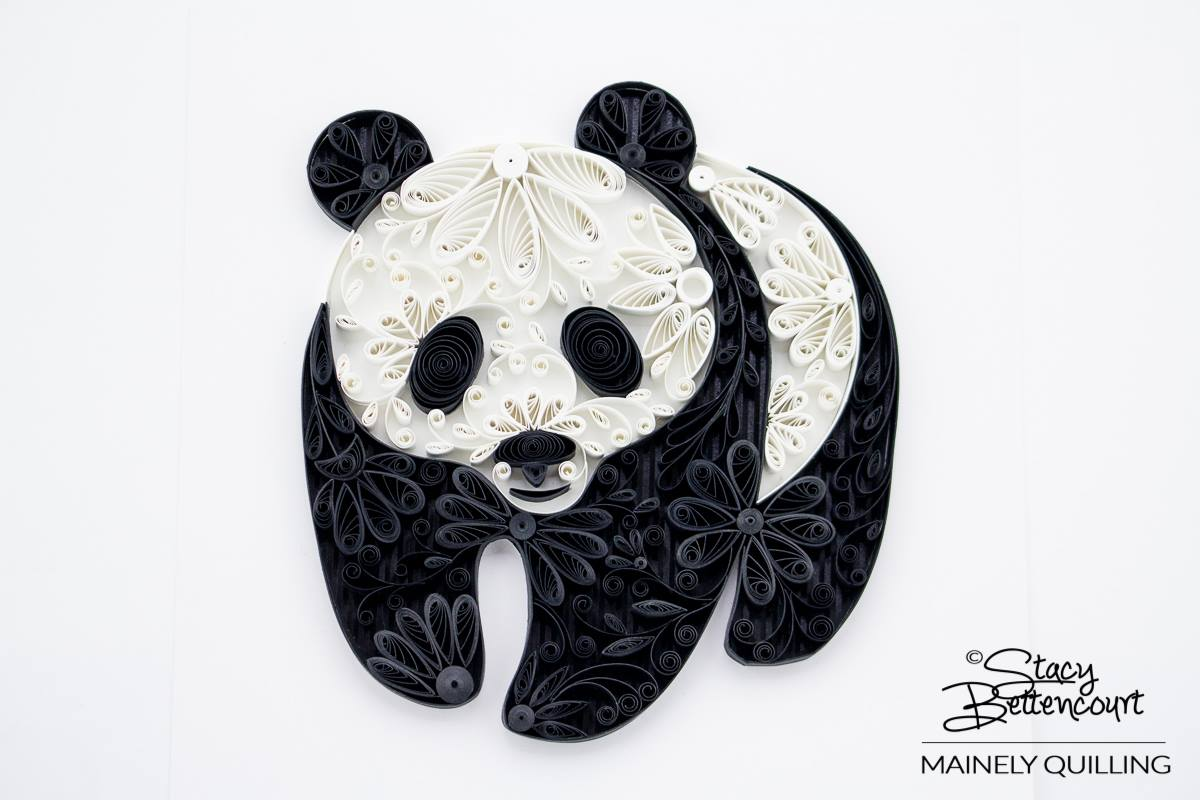 Quilled Floral Giant Panda
