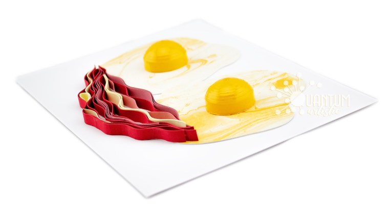 Quilled Bacon & Eggs   Happy Breakfast