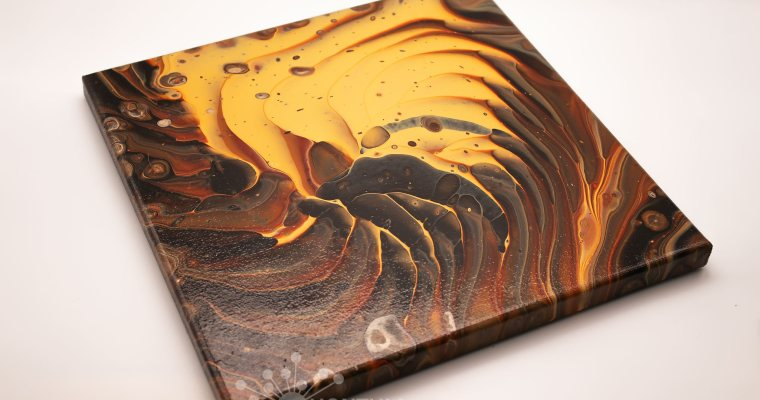 Banded Agate Pour Painting | Version 2