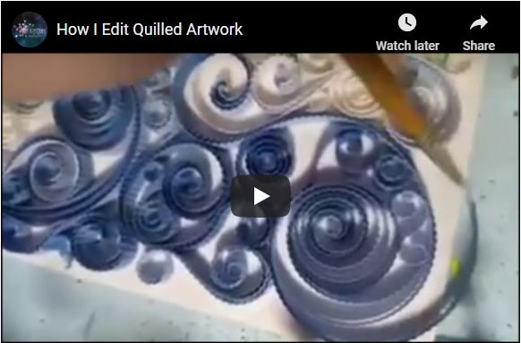 How I Edit Quilled Artwork