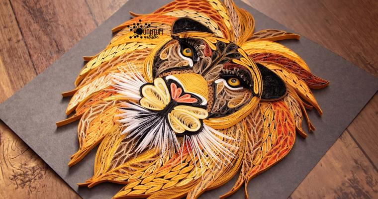 The King | Quilled Lion 2.0