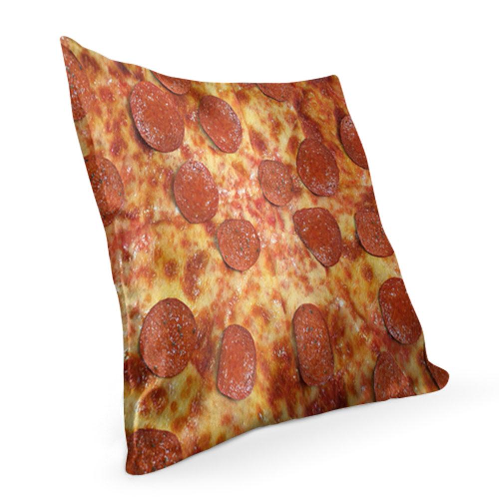 "Pizza Texture Decorative Pillow  lothing Store ""Quantum"