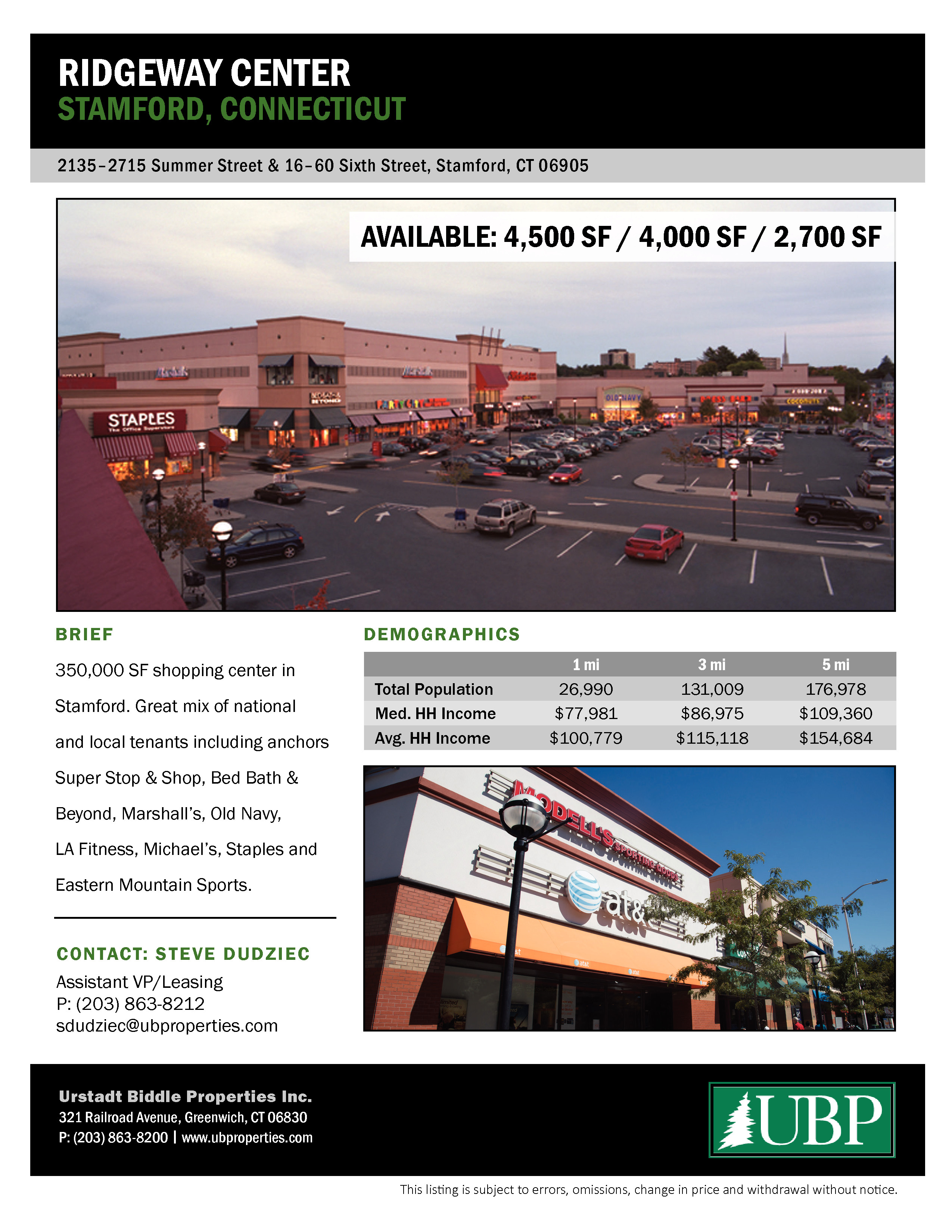 Ridgeway Shopping Center Management - Stamford, United States