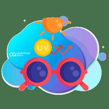 Quantum - gafas oscuras con un sol arriba