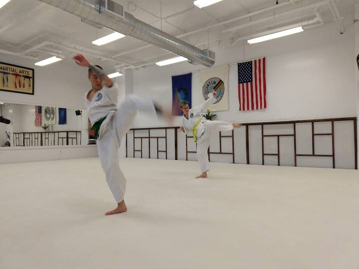 Jude and Joelle, turning side kicks