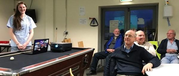 Rebecca presenting YOTA 2017 to Wallasey Amateur Radio Society