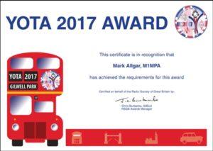 YOTA 2017 Award