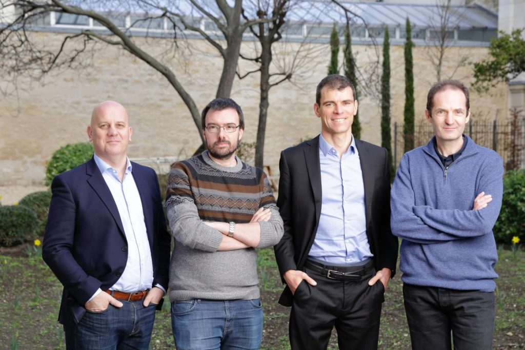 Pasqal's founders, from right to left: Antoine Browaeys, Georges-Olivier Reymond, Thierry Lahaye , Christophe Jurczak.