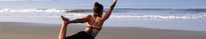 Yoga on the beach in India