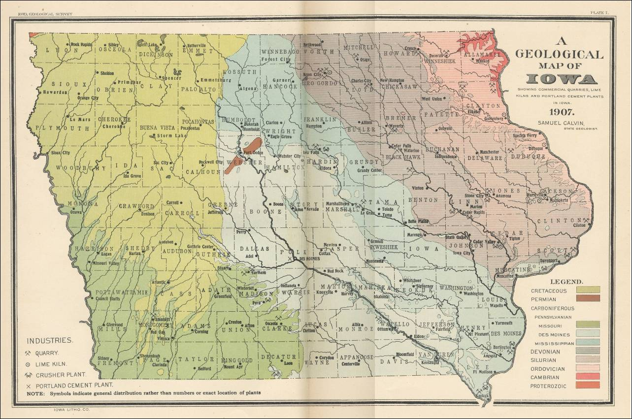Arkansas Natural Resources And Industries Map