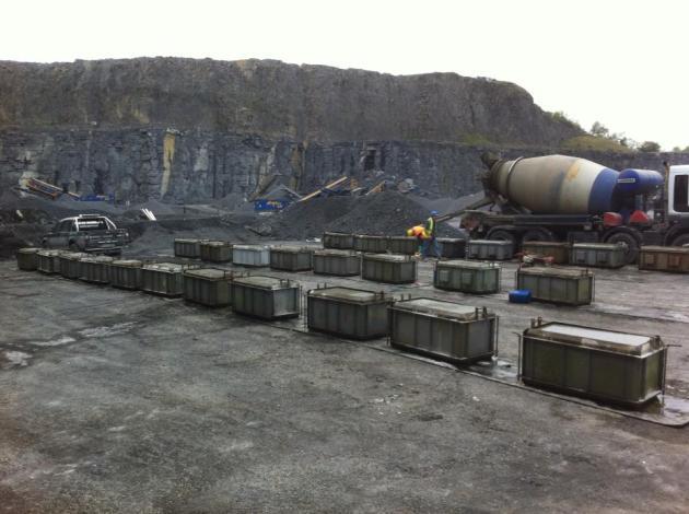 Interlocking Lego Block Production at Lisduff Quarry