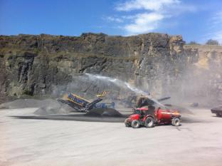 Lisduff Quarry Dust Suppression Unit at work