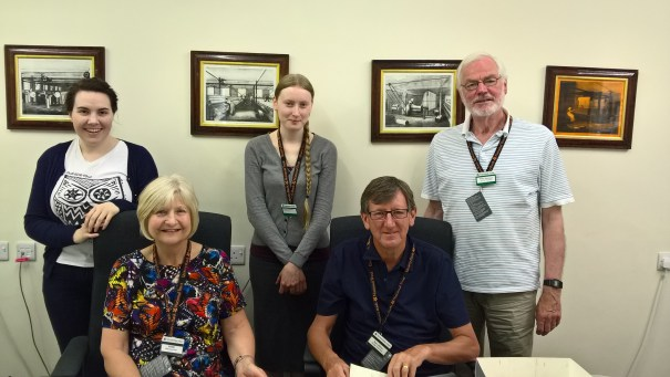 Some of our Archive volunteers, helping to uncover new finds from our collection