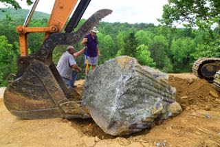 placing sitting rock