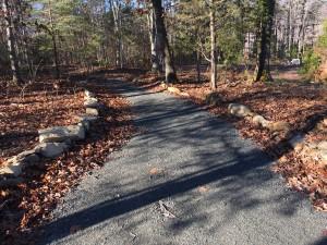 The entrance path.