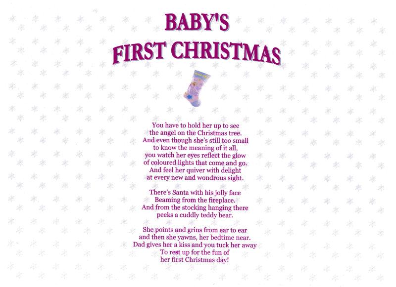 Babys 1st Christmas Poem BabyCenter