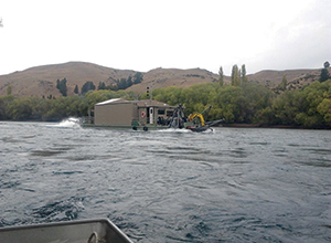 In the late 19th and early 20th centuries the Clutha River was dredged by literally hundreds of dredges. These operations slowly withdrew, leaving the West Coast of the South Island as the only location for gold dredging.