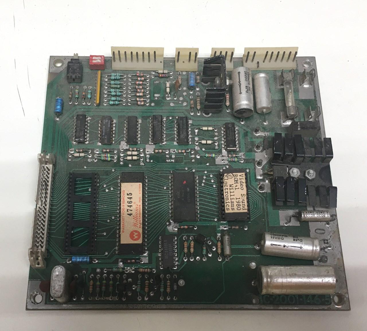 Williams Defender Arcade Game Sound Circuit Board Pcb Works Ebay