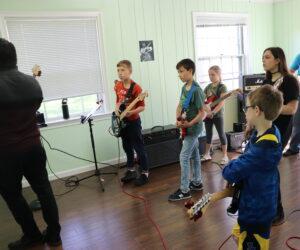 Kid's guitar jam session