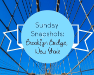 SUnday Snapshots Brooklyn Bridge