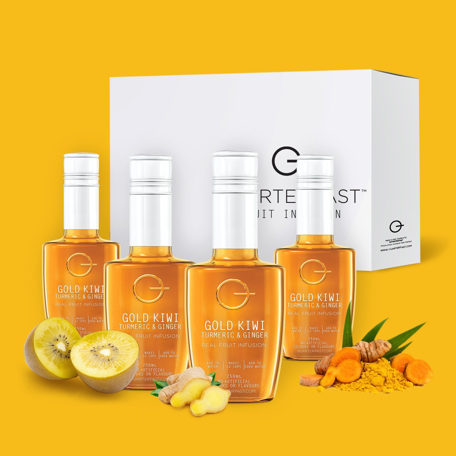4 Pack Of Gold Kiwi_Turmeric_Ginger_fruit_infusion