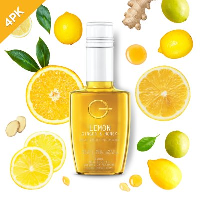 Q Lemon Ginger & Honey Infusion 250mL (4 Pack)