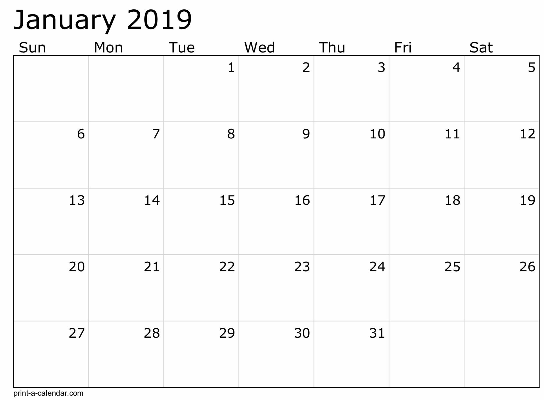 Create Your Free Printable Monthly Calendar Without