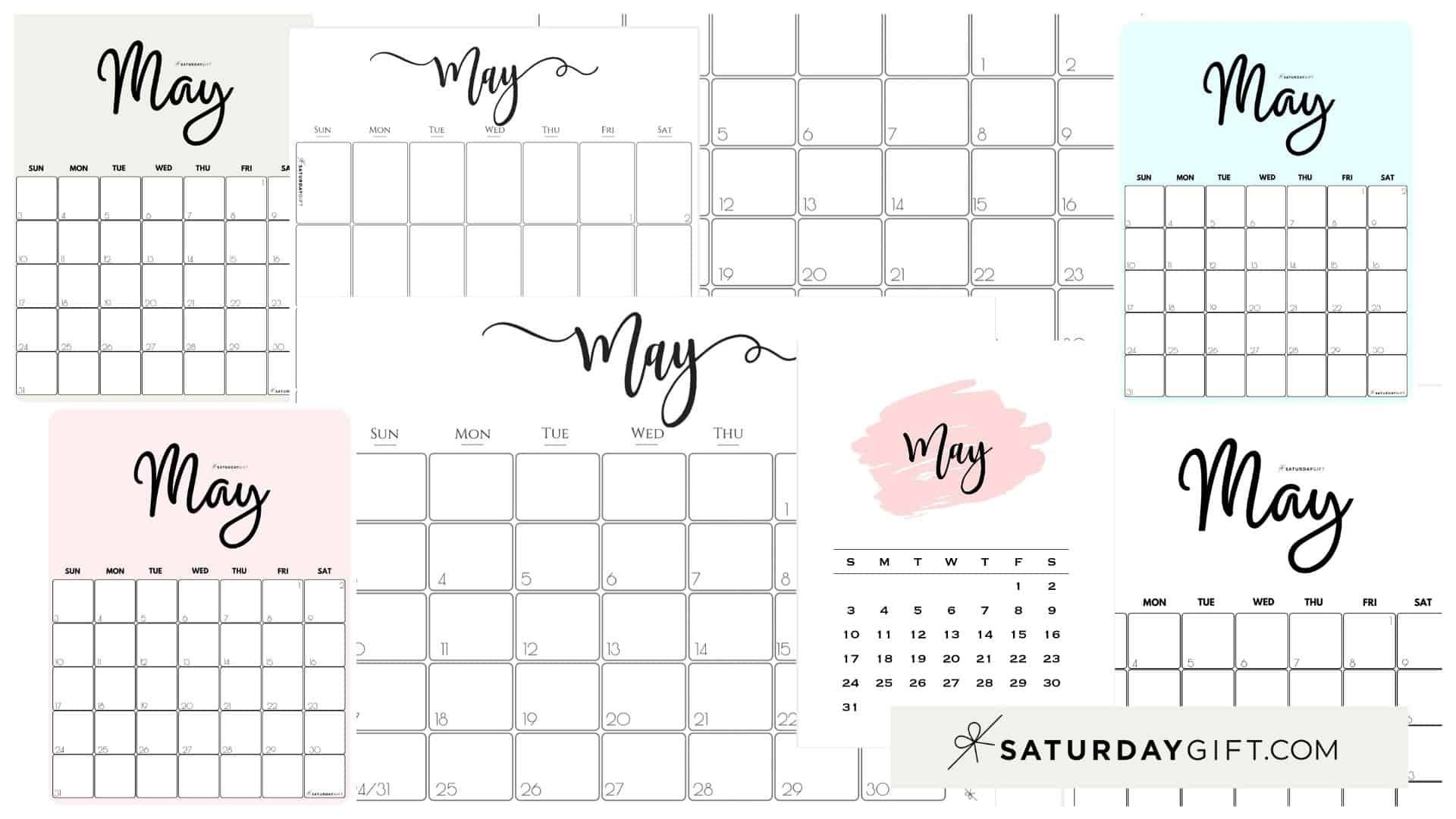 July through august of the following year … Universal Blank 30 Day Calendar Starting May 24 | Get Your ...