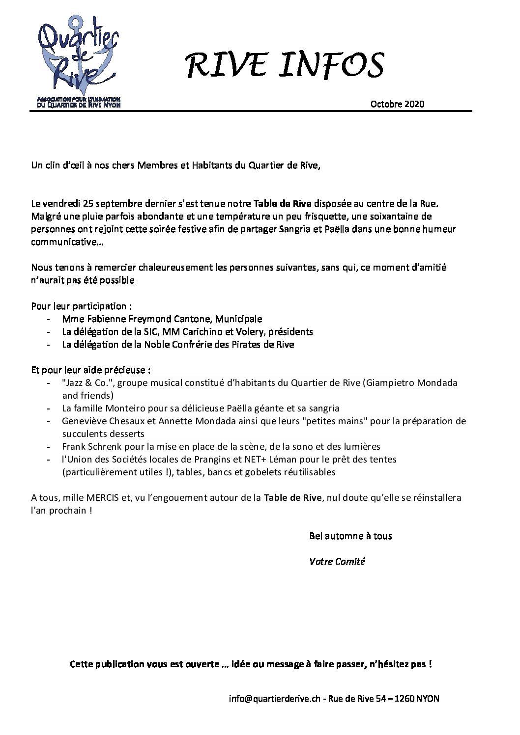 Rive Infos Juin 2020