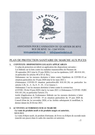 Plan sanitaire du marché aux puces.1