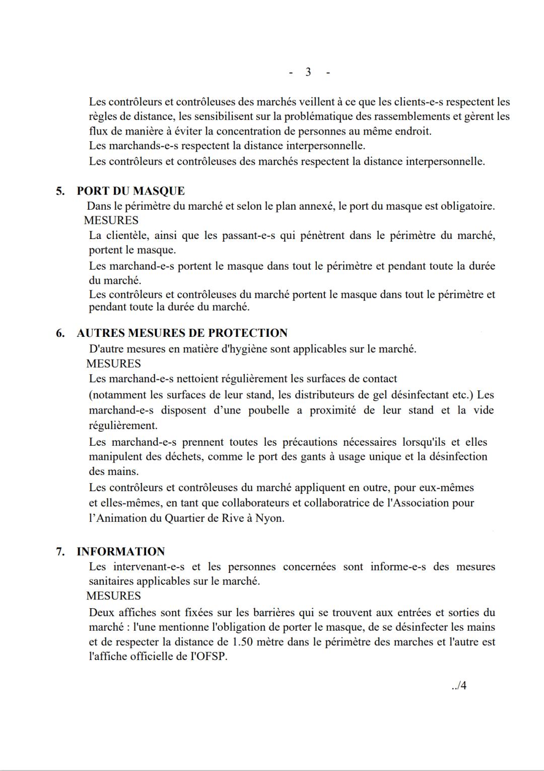 Plan sanitaire du marché aux puces.3