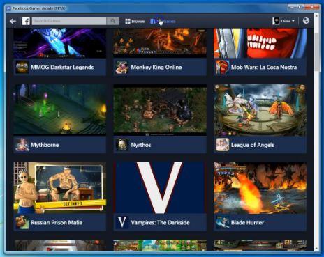 Une application pour jouer aux jeux Facebook !